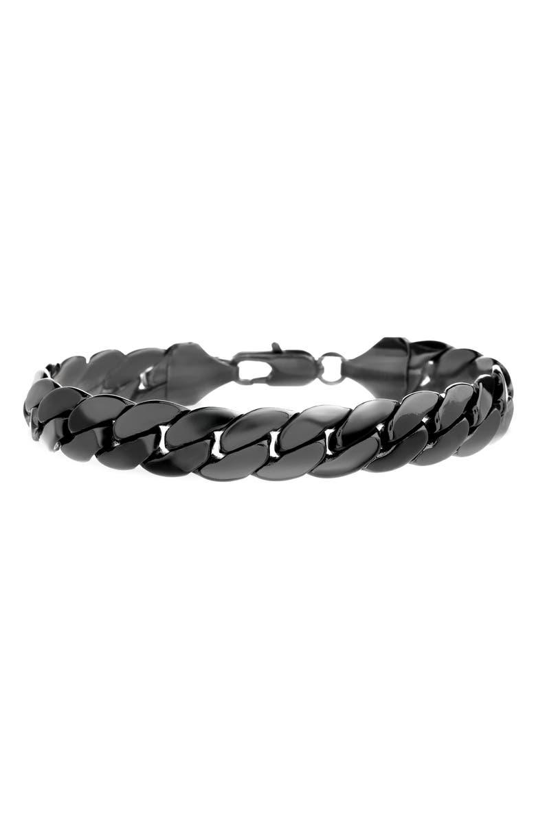 STEVE MADDEN Cuban Chain Bracelet, Main, color, 001