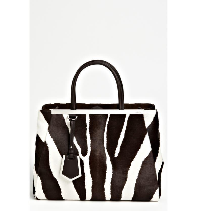 FENDI '2Jours - Medium' Calf Hair Shopper, Main, color, 230