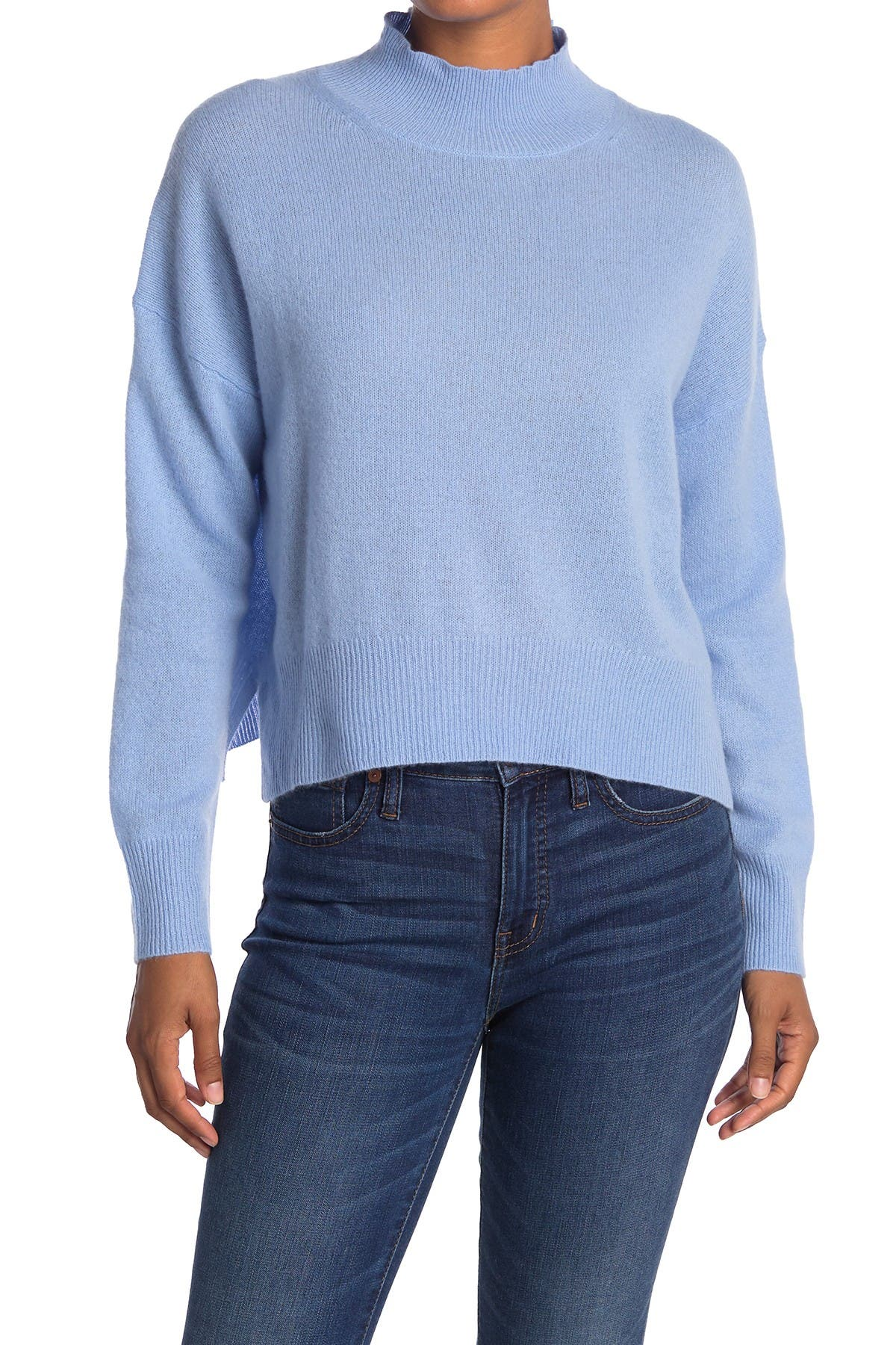 Image of 360 Cashmere Emily Mock Neck Cashmere Sweater