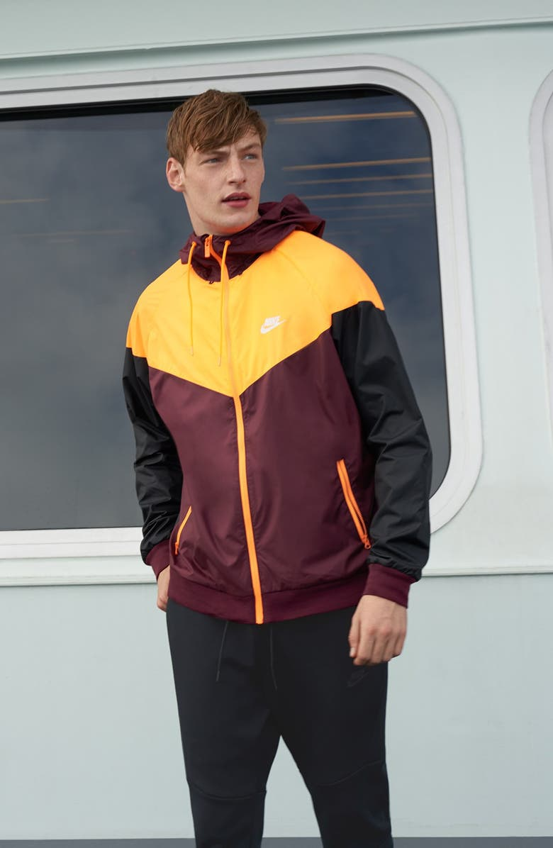 NIKE Windrunner Colorblock Jacket, Main, color, 024