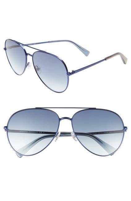 Image of Rebecca Minkoff 63mm Stevie Aviator Sunglasses