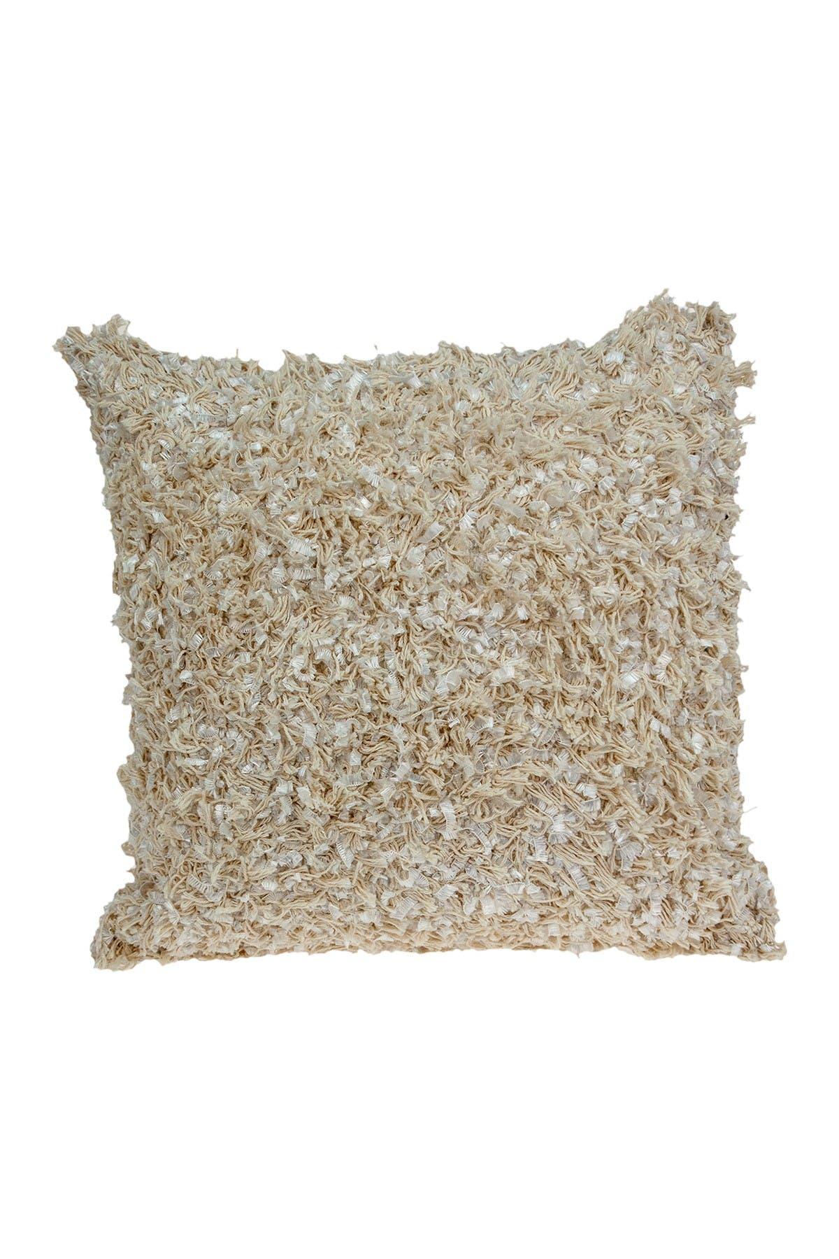 Image of Parkland Collection Tria Bohemian Beige Throw Pillow