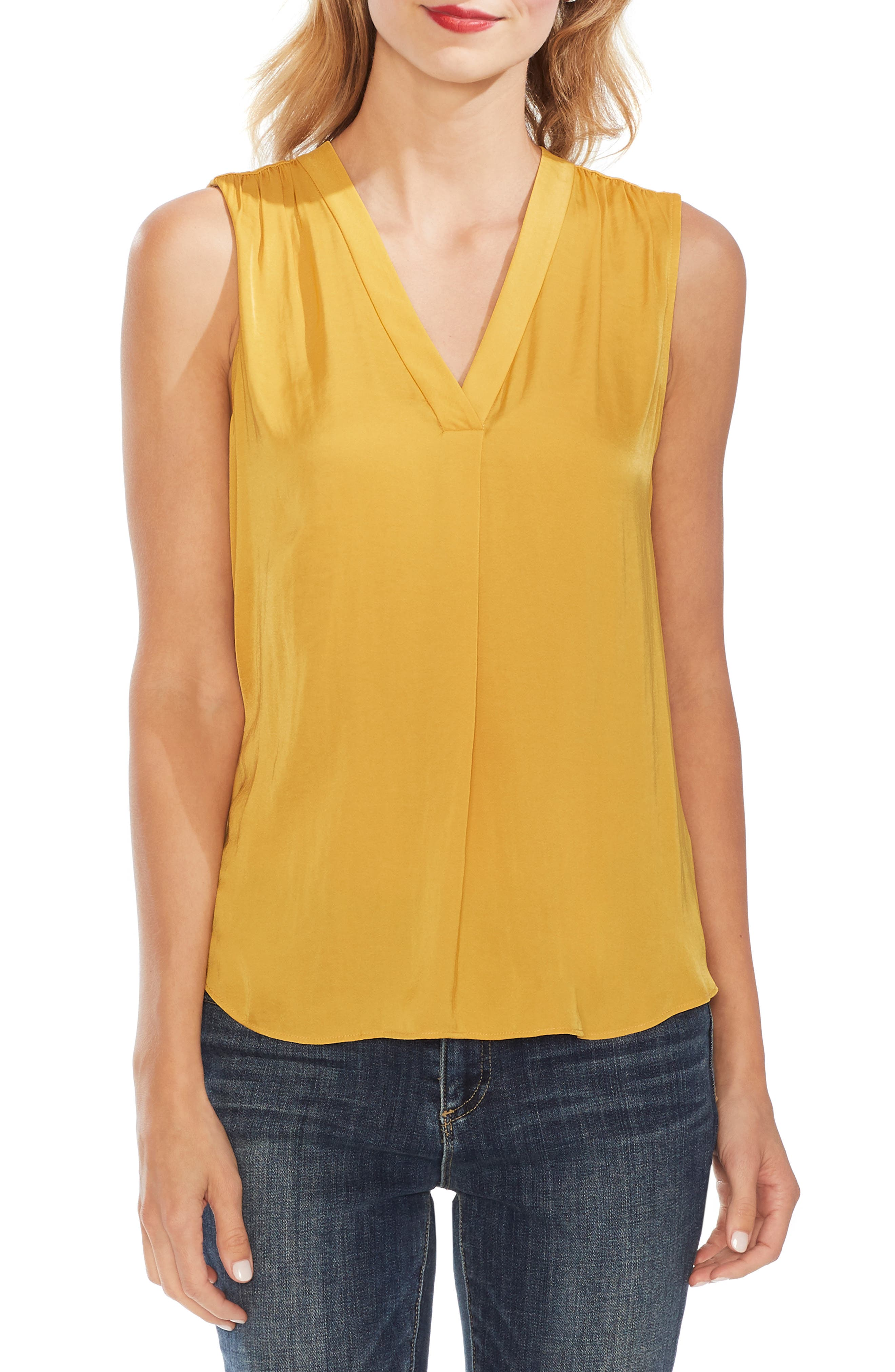 ,                             Rumpled Satin Blouse,                             Main thumbnail 79, color,                             752