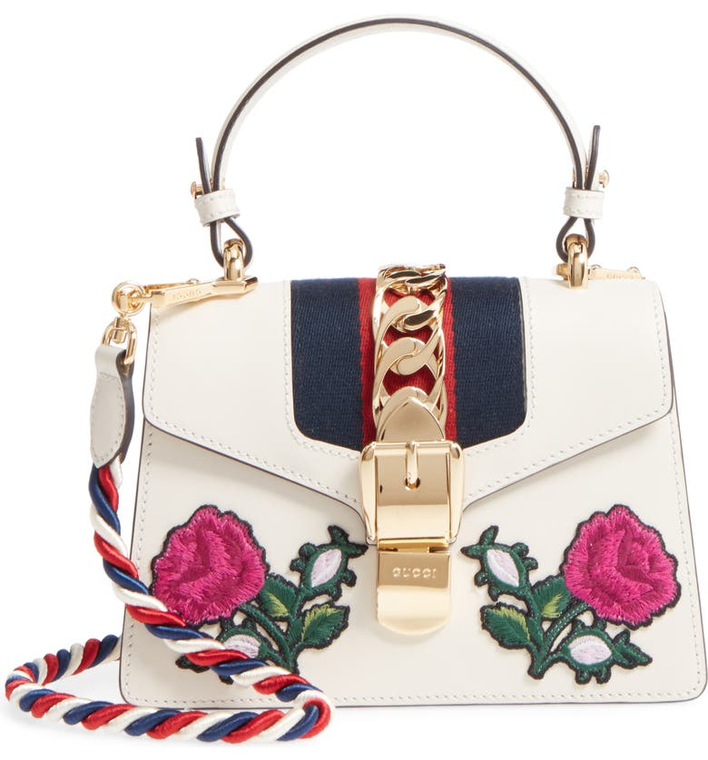 4bc1aaaba Mini Sylvie Embroidered Floral Leather Shoulder Bag, Main, color, 176