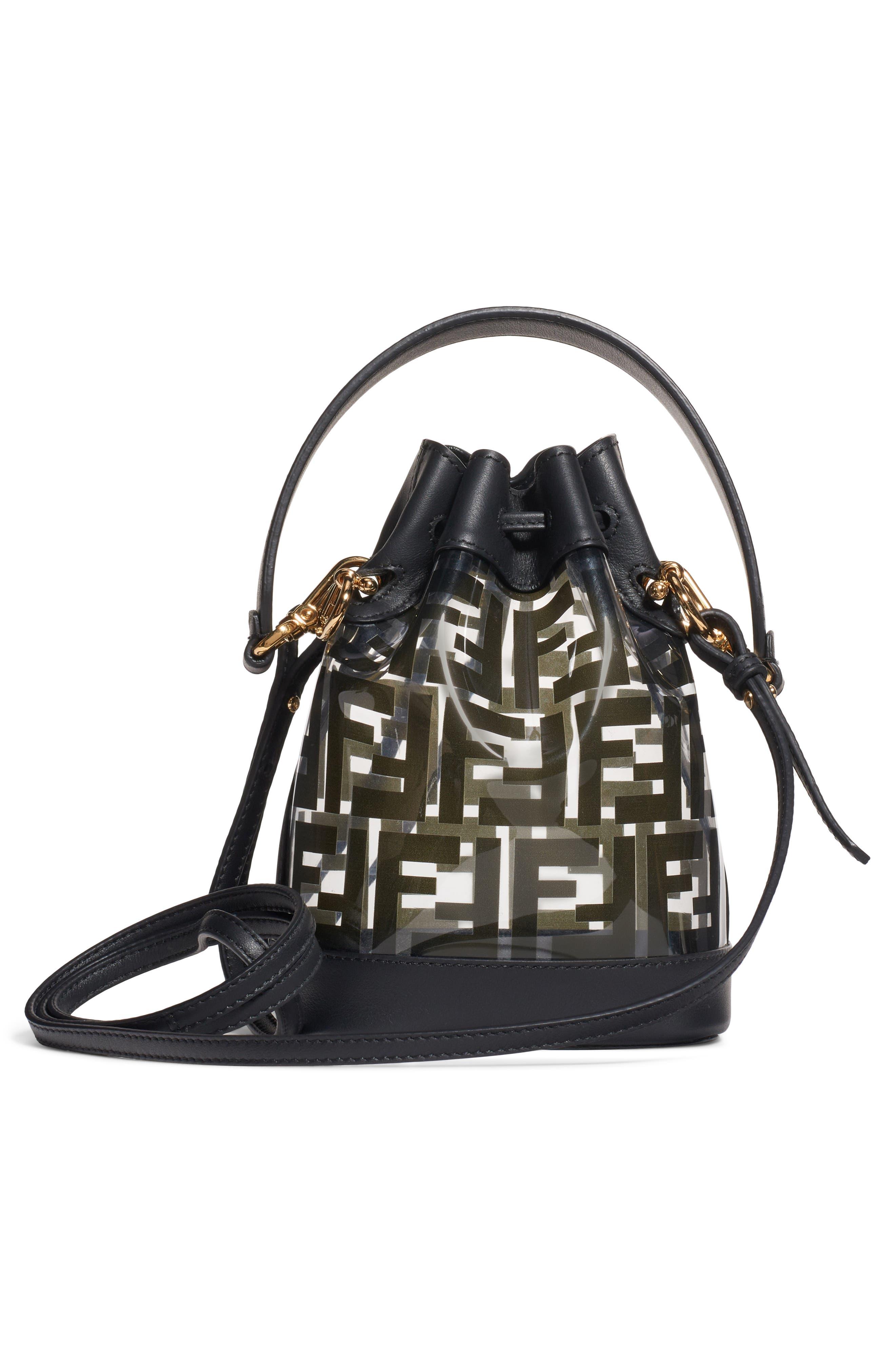 ,                             Mini Mon Tresor Transparent Bucket Bag,                             Alternate thumbnail 2, color,                             NERO/ ORO SOFT