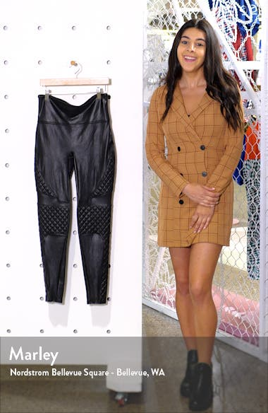 Quilted Faux Leather Leggings, sales video thumbnail