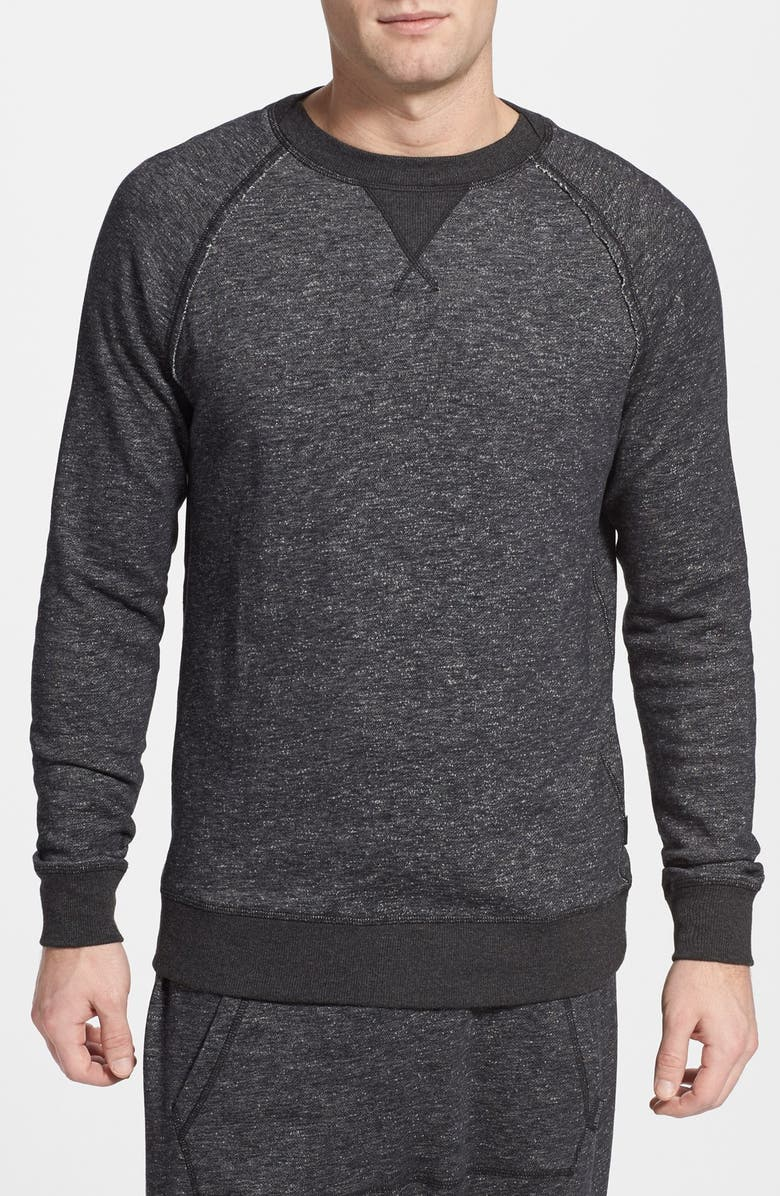2(X)IST Slim Fit Terry Sweatshirt, Main, color, BLACK HEATHER