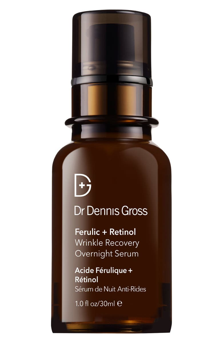 DR. DENNIS GROSS Skincare Ferulic + Retinol Wrinkle Recovery Overnight Serum, Main, color, NO COLOR