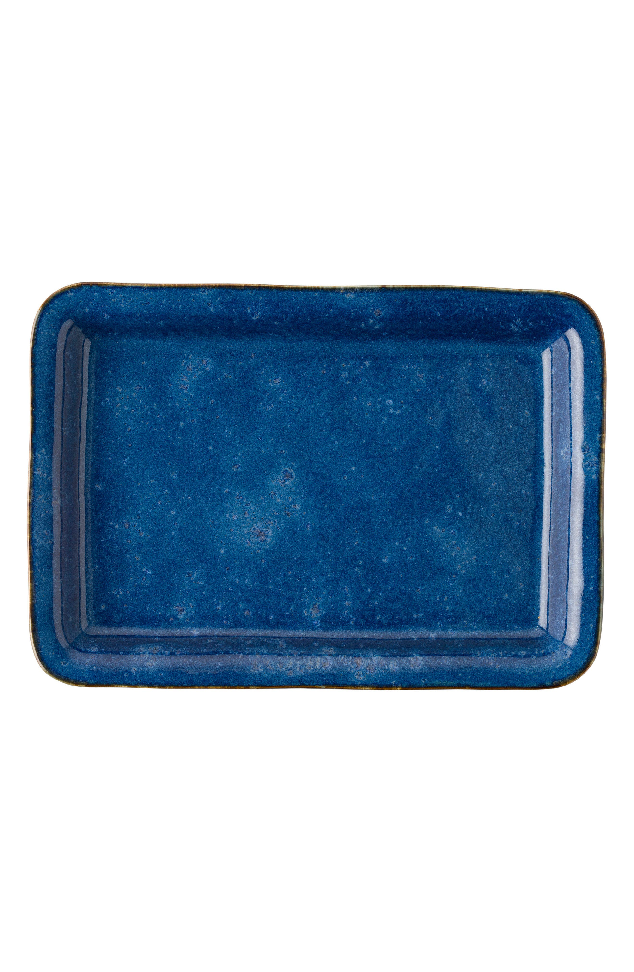 ,                             Puro Rectangular Ceramic Serving Tray,                             Main thumbnail 1, color,                             DAPPLED COBALT