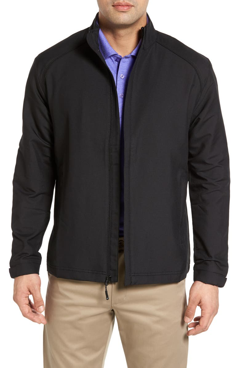 CUTTER & BUCK 'Blakely' WeatherTec<sup>®</sup> Wind & Water Resistant Full Zip Jacket, Main, color, BLACK
