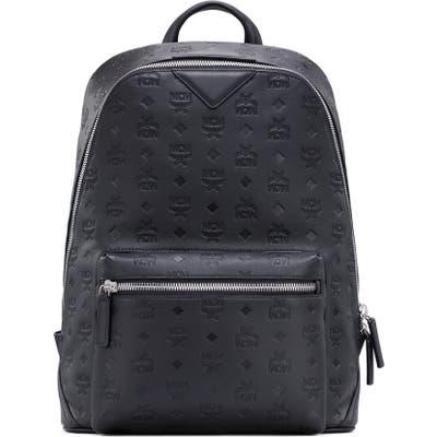 Mcm Duke Embossed Leather Backpack - Black