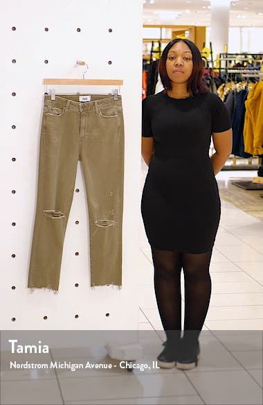 Vintage - Hoxton High Waist Ripped Crop Slim Straight Leg Pants, sales video thumbnail