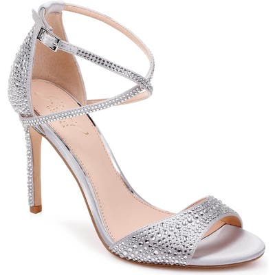 Jewel Badgley Mischka Dillon Crystal Embellished Sandal- Metallic