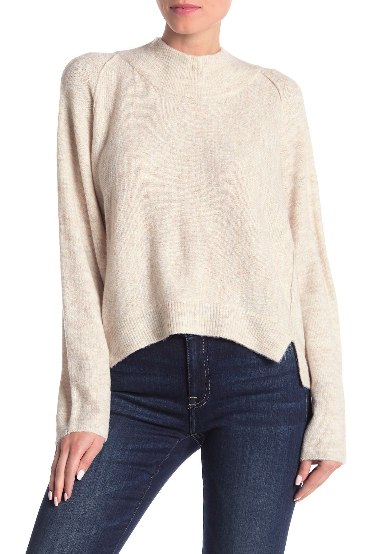 Image of Melrose and Market Forward Seamed Dolman Sleeve Pullover Sweater