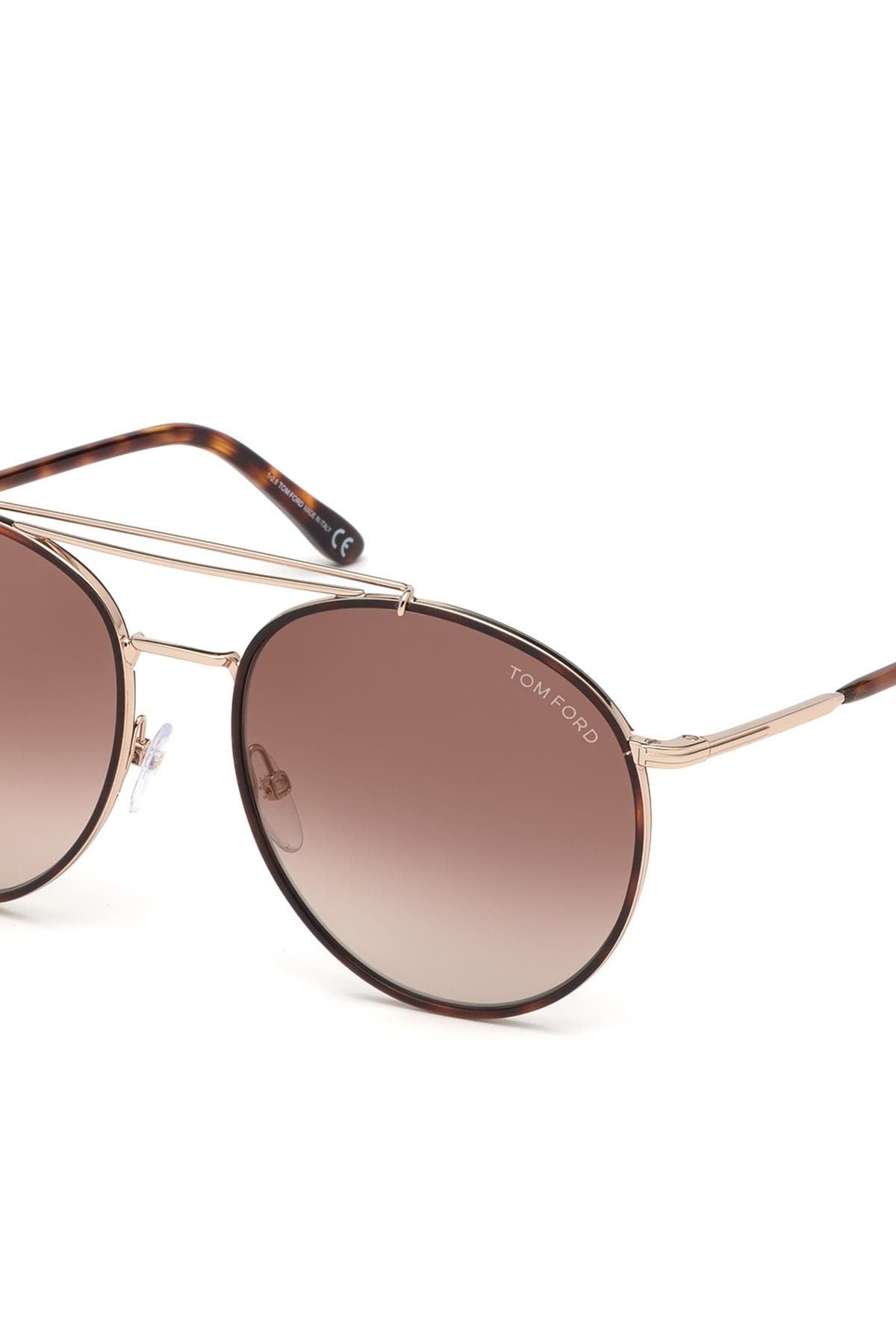Image of Tom Ford Wesley 58mm Round Sunglasses