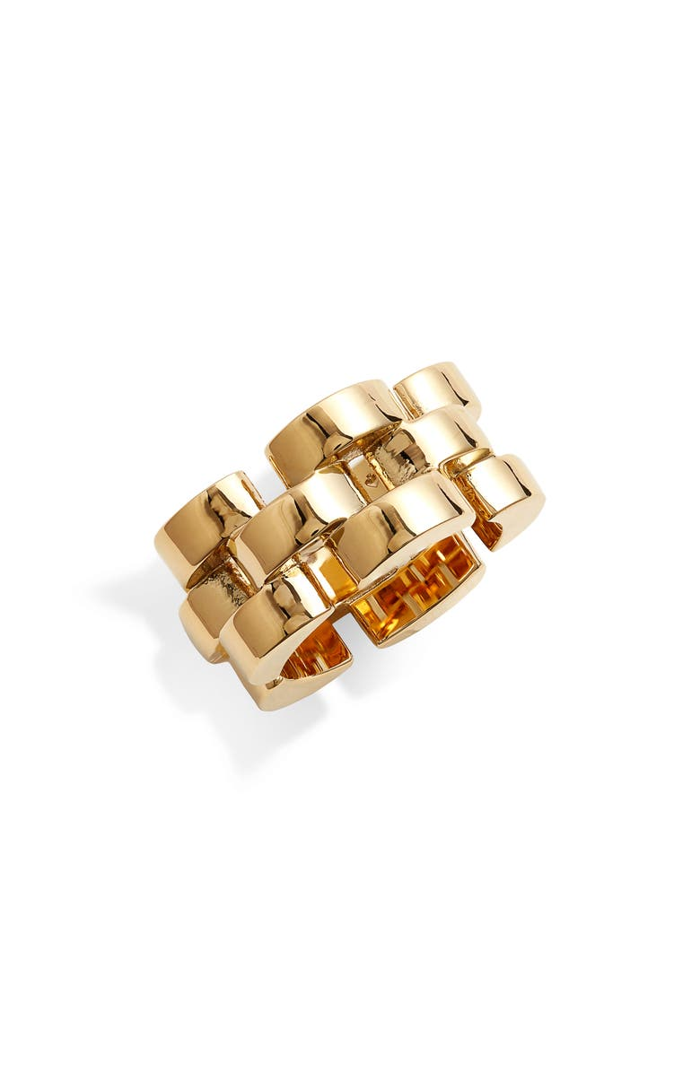 KATE SPADE NEW YORK sliced scallops ring, Main, color, GOLD