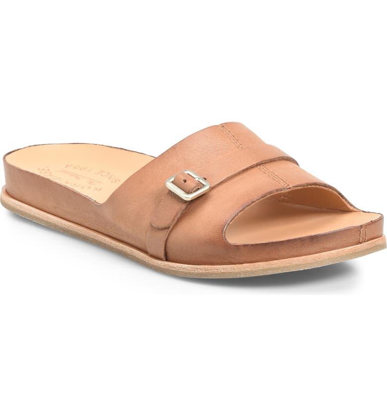 KORK-EASE<SUP>®</SUP> Downey Slide Sandal, Main, color, BROWN LEATHER