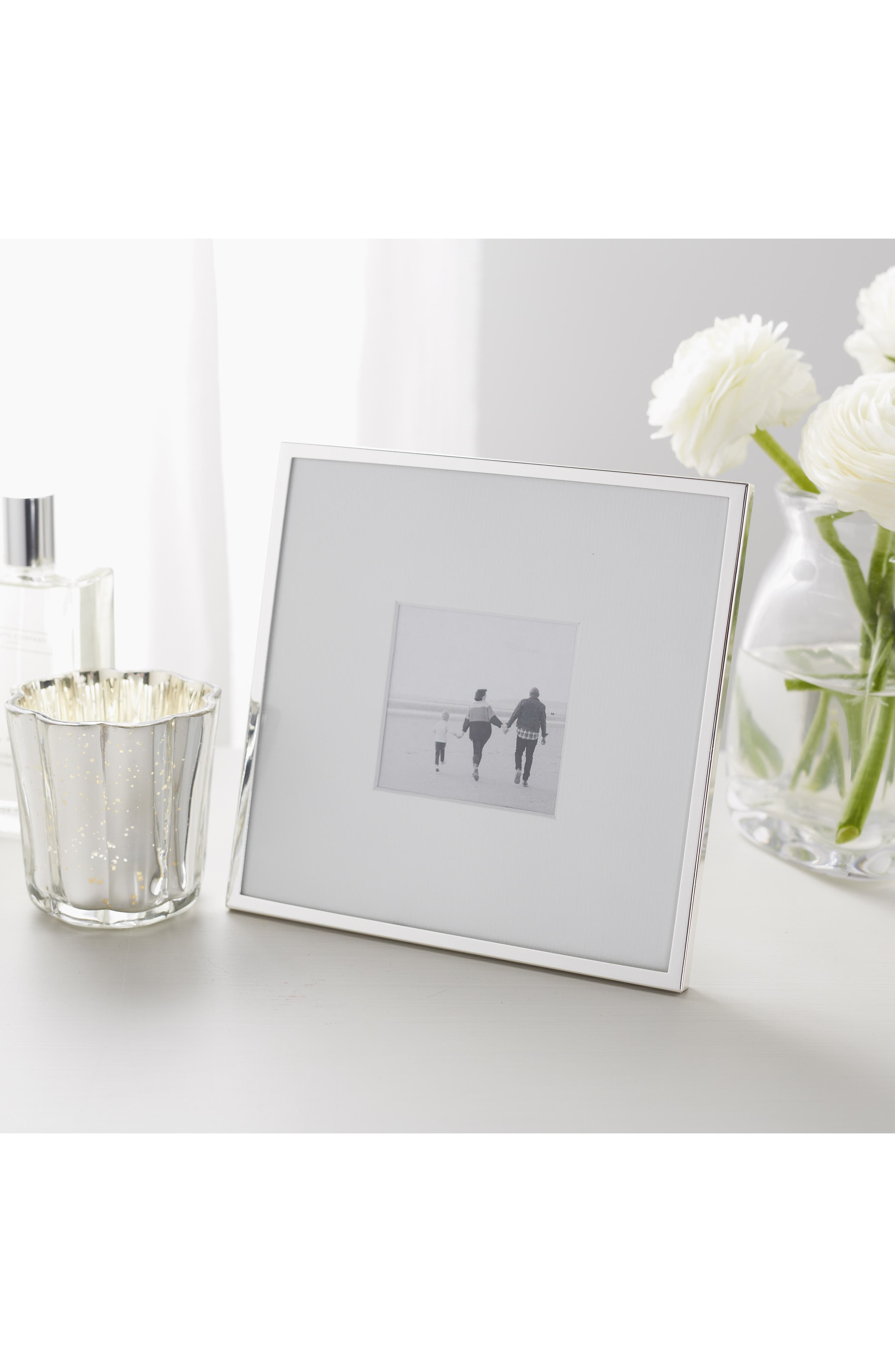 ,                             Fine Silver Plated Picture Frame,                             Alternate thumbnail 8, color,                             SILVER