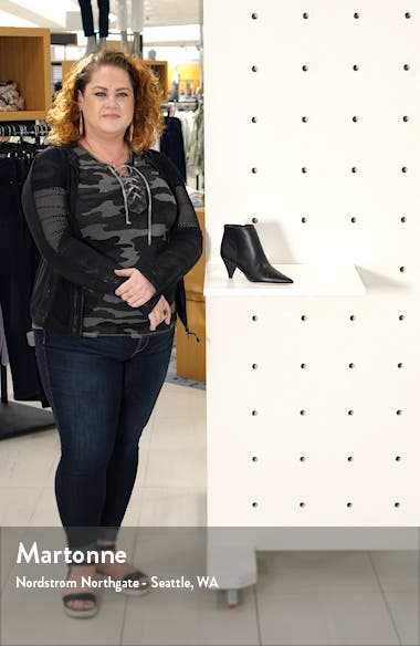 Bobbie Perforated Pointy Toe Bootie, sales video thumbnail