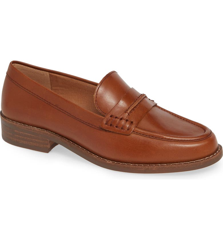 MADEWELL The Elinor Loafer, Main, color, CHESTNUT LEATHER