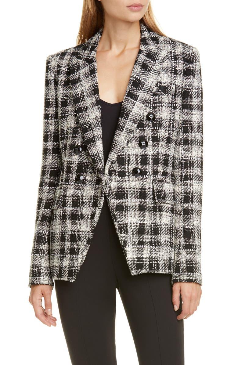 VERONICA BEARD Miller Embellished Tweed Dickey Jacket, Main, color, BLACK MULTI