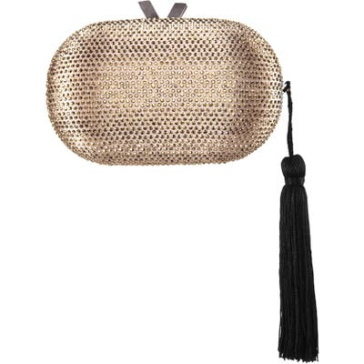 Nina Oval Minaudiere With Tassel - Metallic