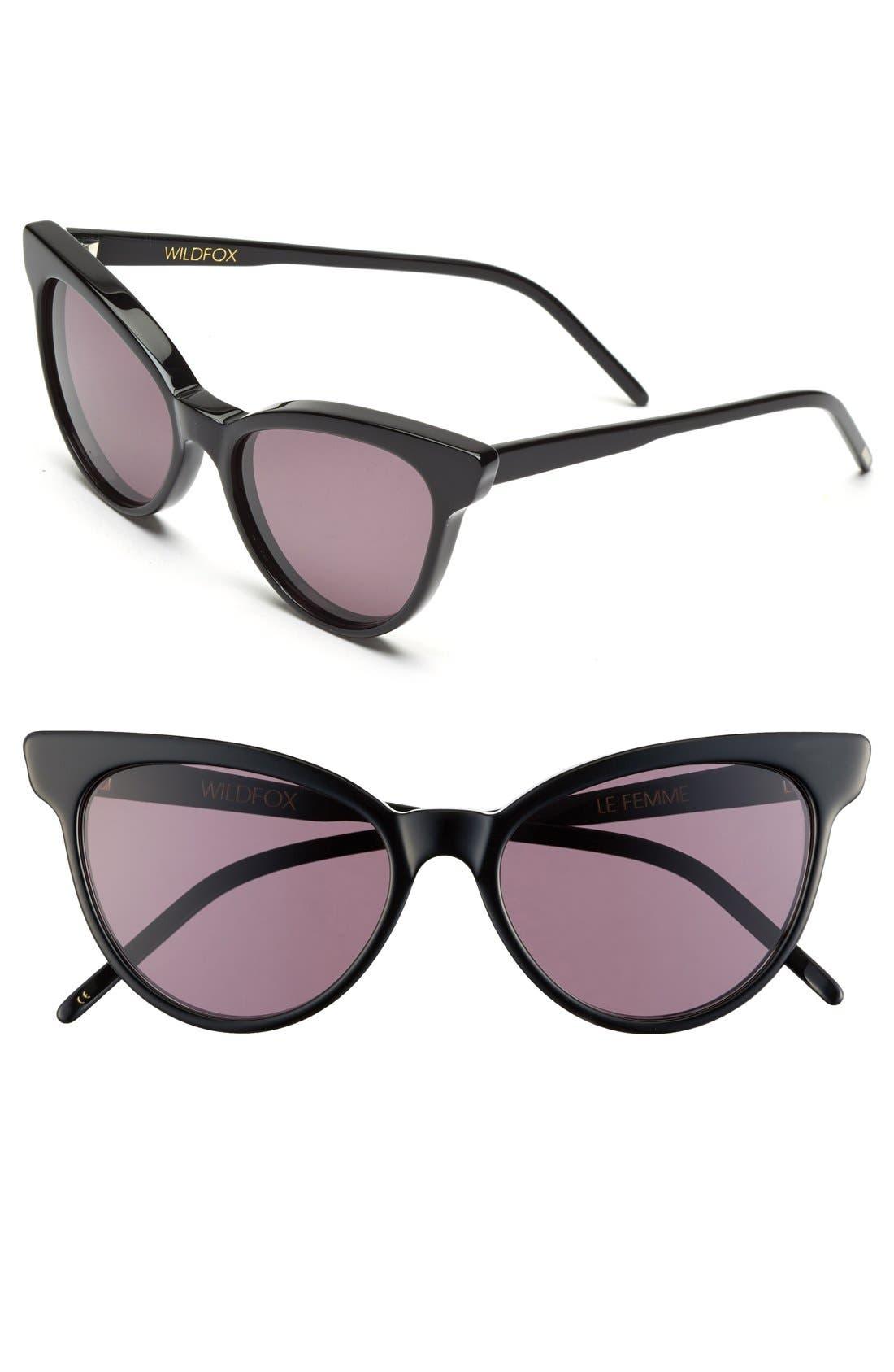 ,                             'La Femme' 55mm Sunglasses,                             Main thumbnail 3, color,                             002