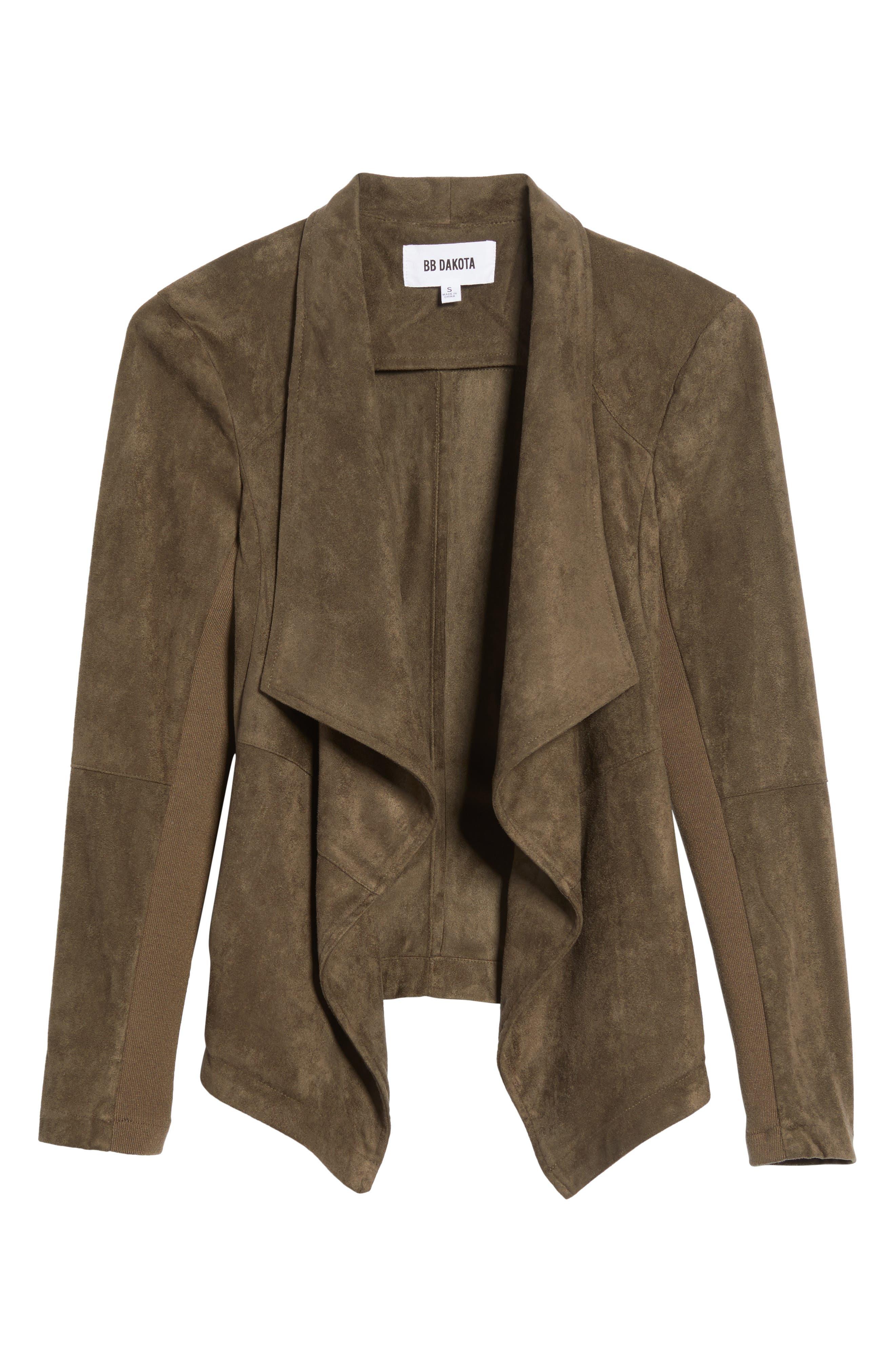 ,                             Nicholson Faux Suede Drape Front Jacket,                             Alternate thumbnail 87, color,                             341
