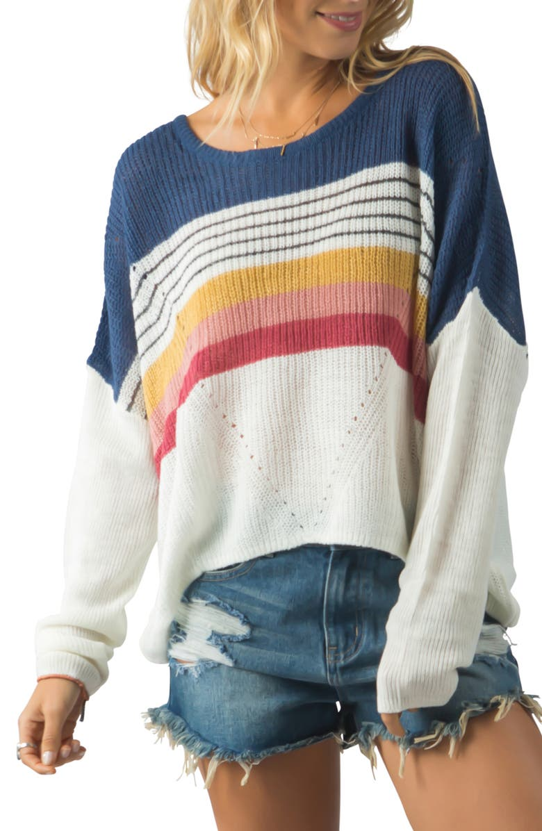 RIP CURL Beach Street Sweater, Main, color, 900