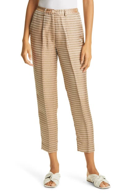 Forte Forte FORTE. FORTE HOUNDSTOOTH JACQUARD ANKLE TROUSERS