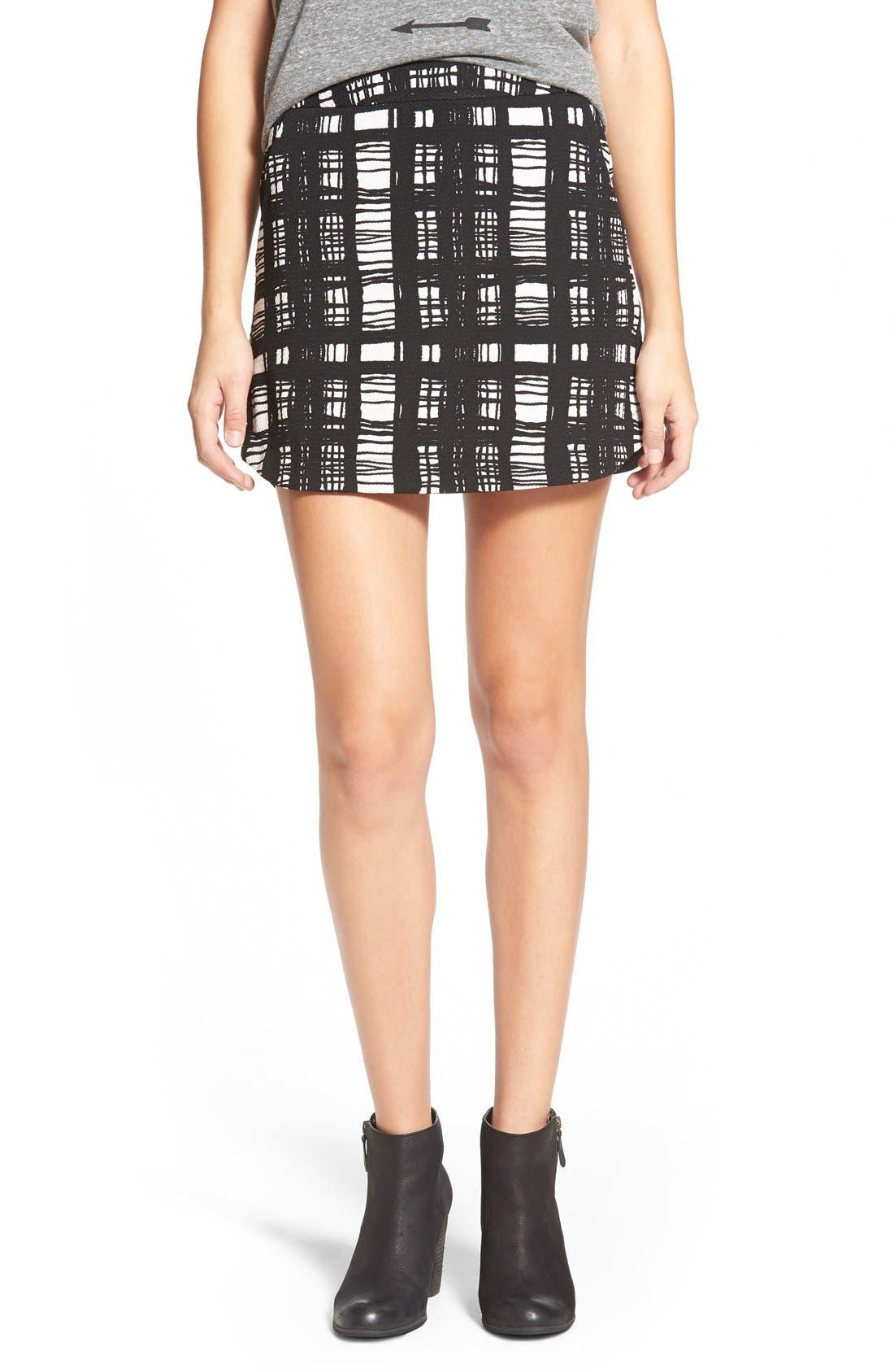 ,                             Knit Miniskirt,                             Main thumbnail 1, color,                             006