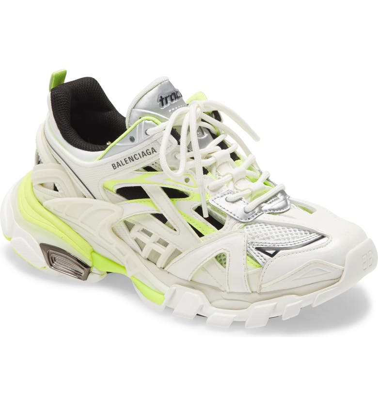 BALENCIAGA Track 2.0 Sneaker, Main, color, WHITE/FLUO YELLOW