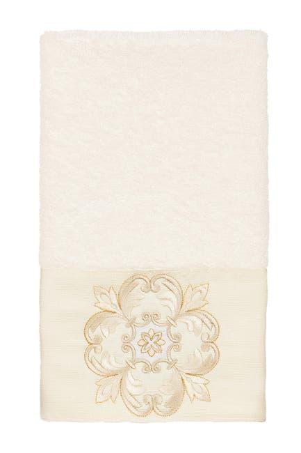 Image of LINUM HOME Alyssa Embellished Hand Towel - Cream