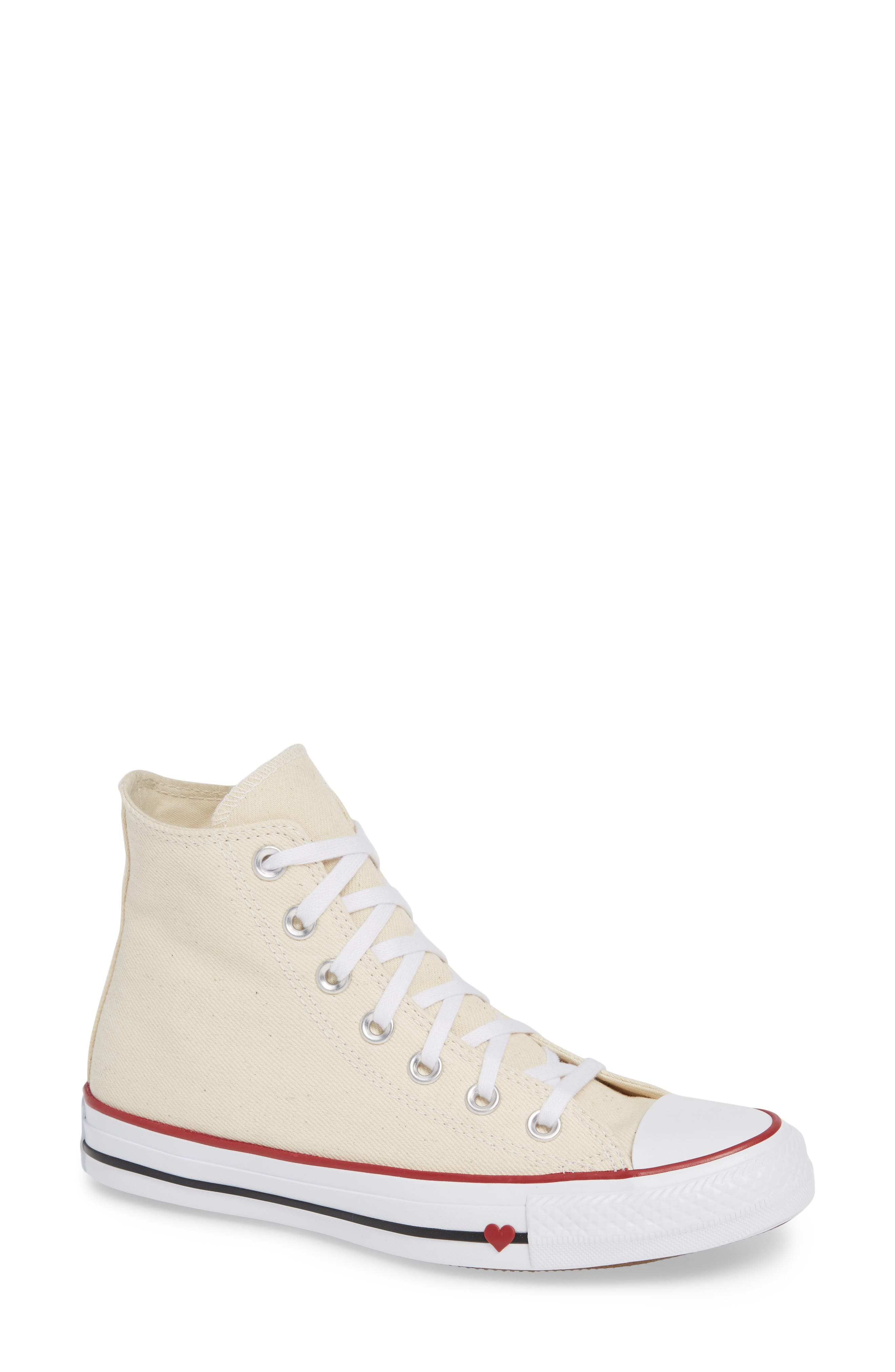 Converse Chuck Taylor All Star High Top Sneaker, Ivory