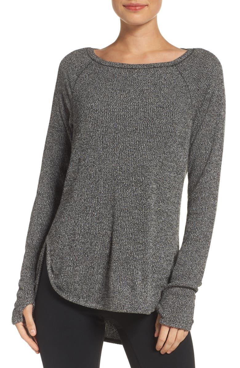 ZELLA Don't Sweat It Sweater, Main, color, 001