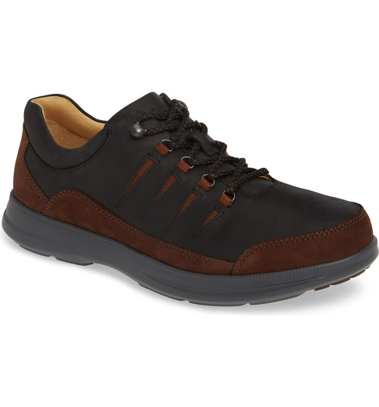 SAMUEL HUBBARD Open Road Sneaker, Main, color, BLACK LEATHER