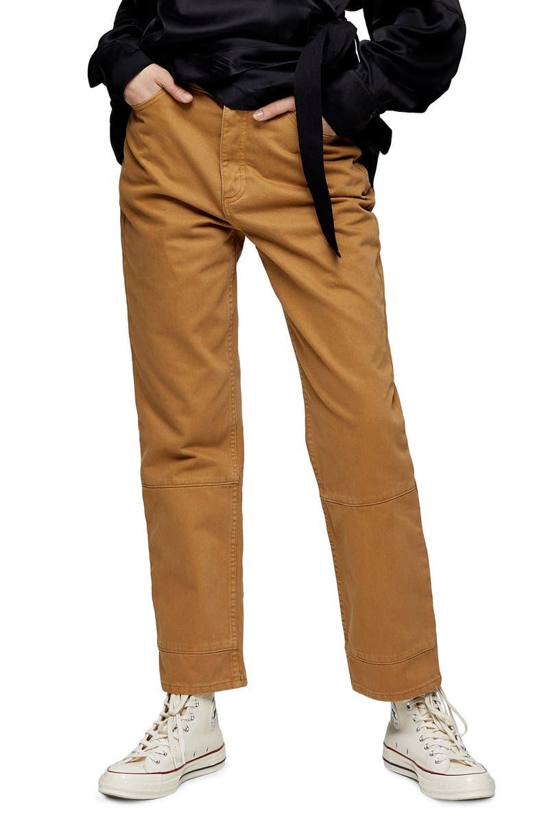 TOPSHOP BOUTIQUE Slimmy Straight Leg Jeans, Main, color, 252