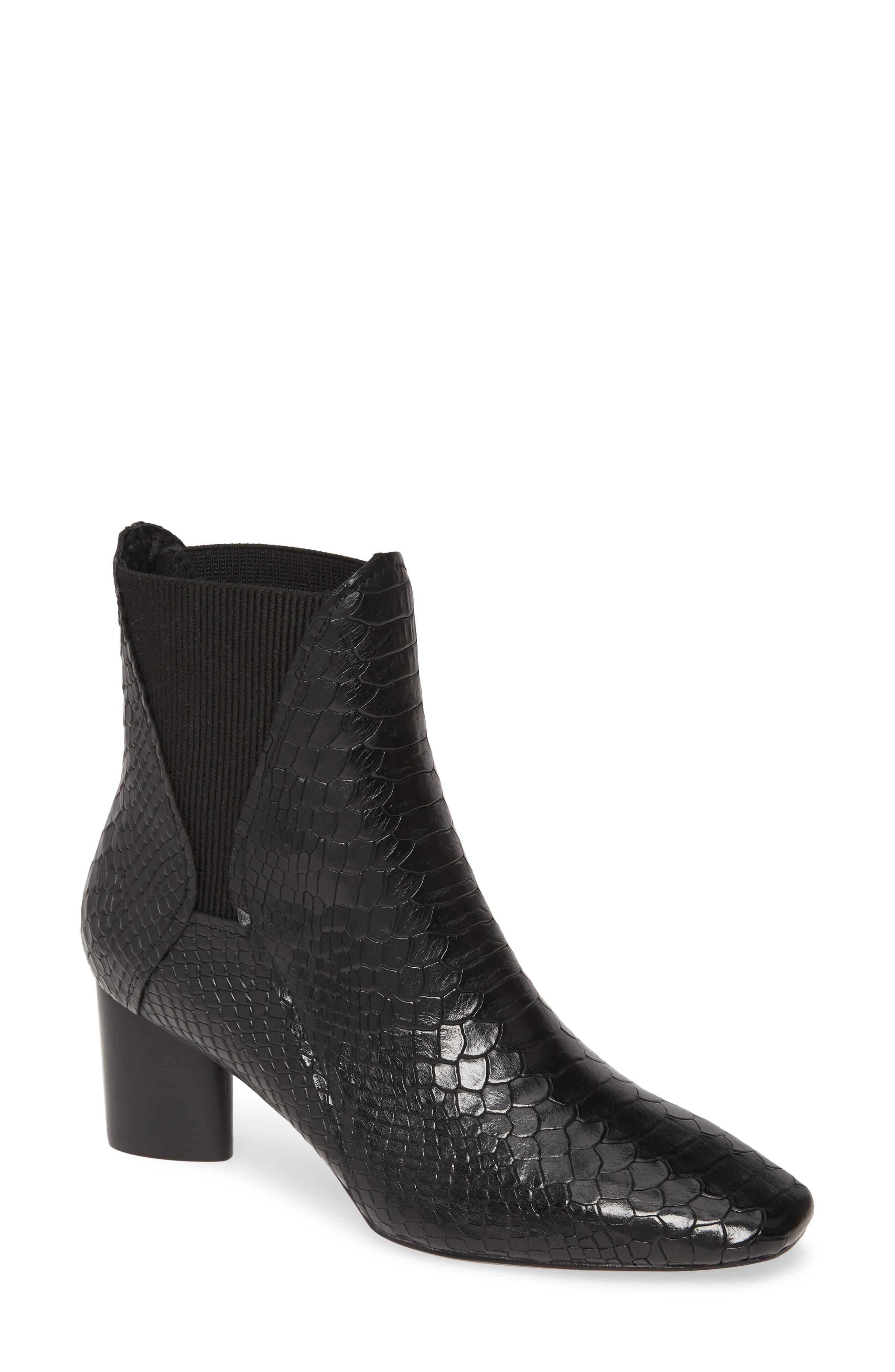 Image of Donald Pliner Austen Snake Embossed Chelsea Boot
