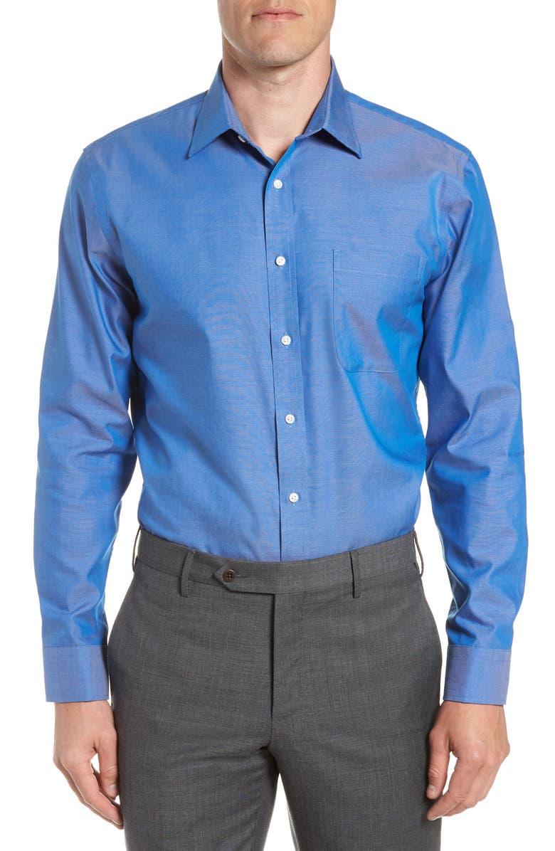 NORDSTROM MEN'S SHOP Trim Fit Non-Iron Dress Shirt, Main, color, BLUE FRENCH