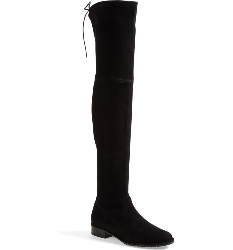 STUART WEITZMAN 'Lowland' Over the Knee Boot, Main, color, BLACK SUEDE