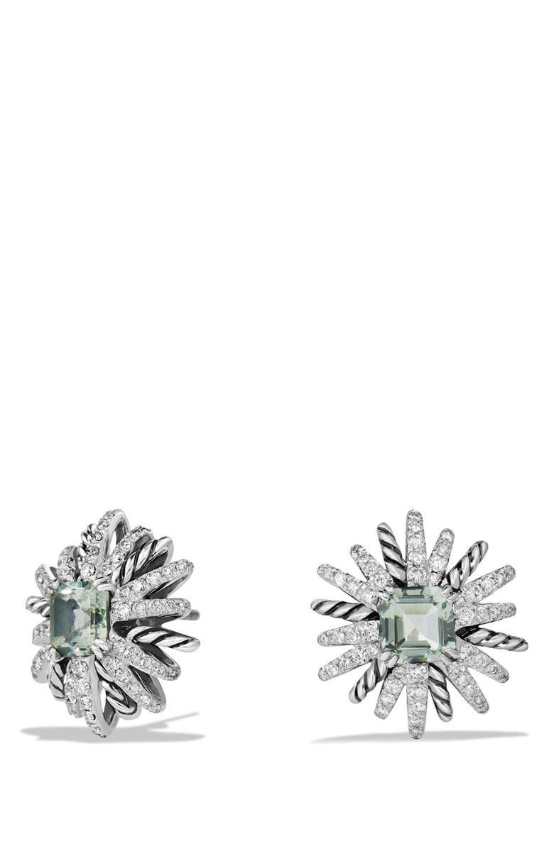 DAVID YURMAN 'Starburst' Earrings, Main, color, PRASIOLITE