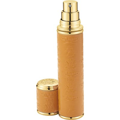 Creed Camel Leather With Gold Trim Pocket Atomizer