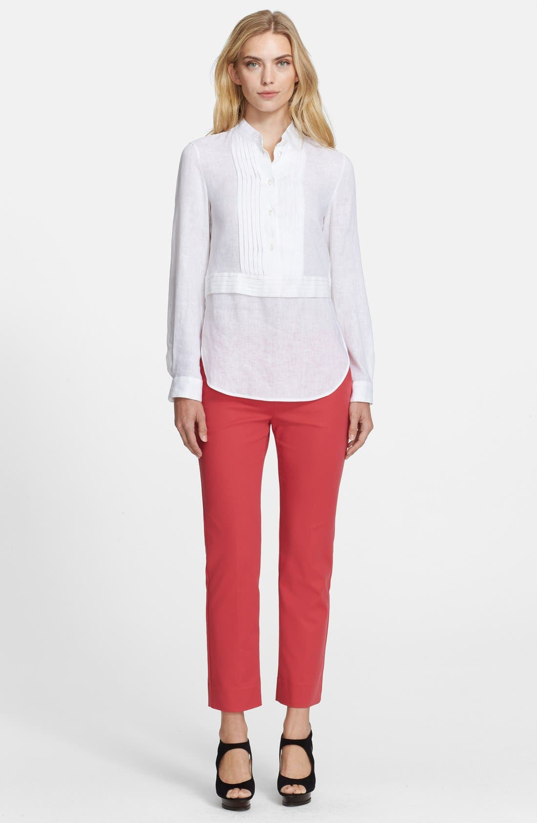 ,                             Linen Tunic Shirt,                             Alternate thumbnail 2, color,                             100