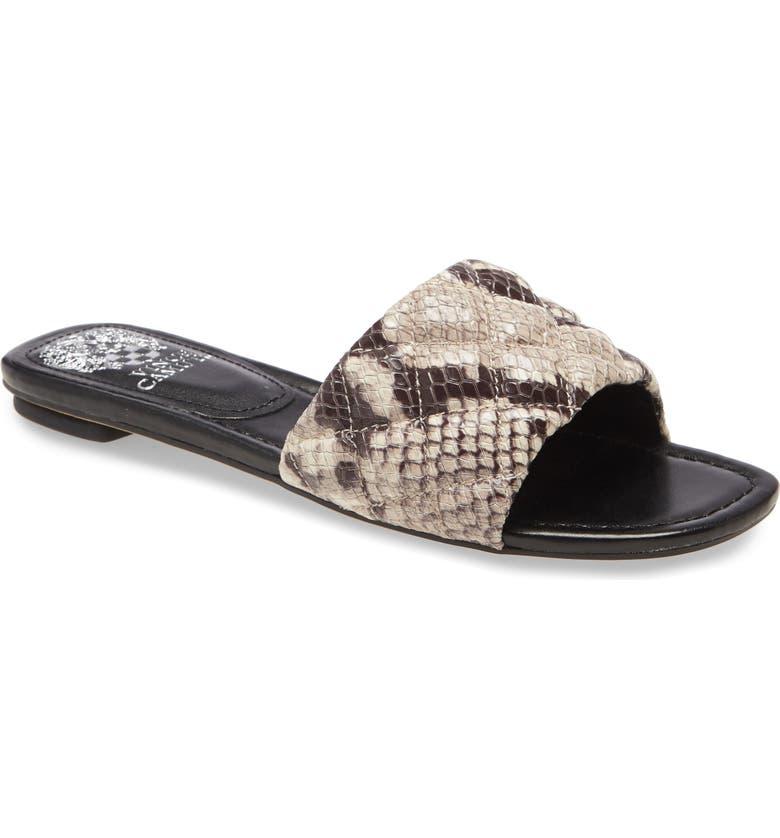 VINCE CAMUTO Pelisa Slide Sandal, Main, color, SNAKE PRINT