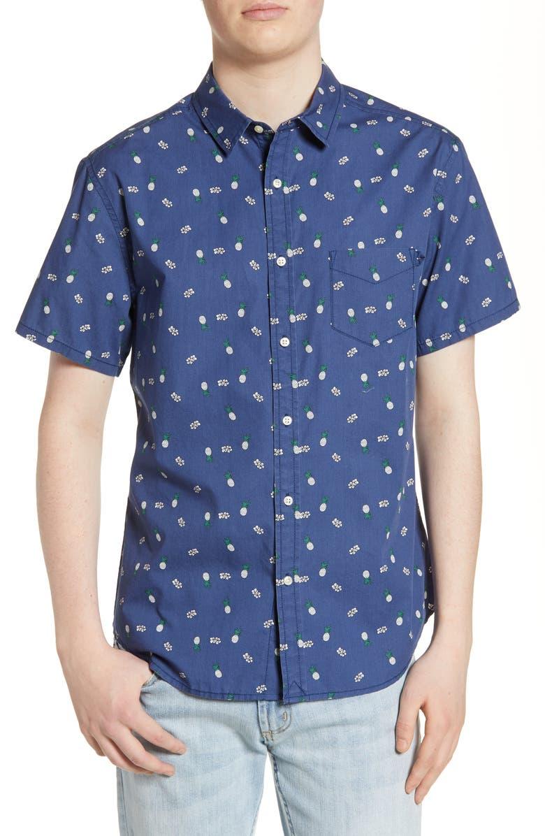 LIFE/AFTER/DENIM Matador Regular Fit Shirt, Main, color, OCEAN BLUE