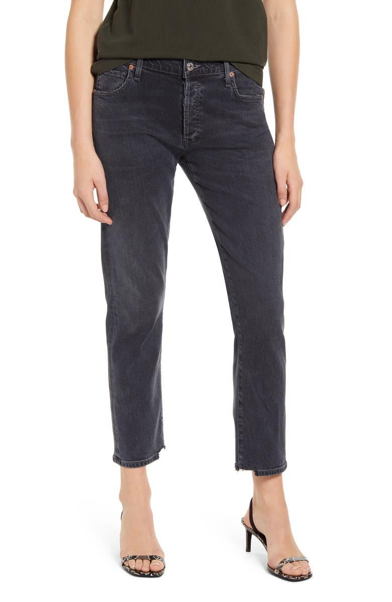 CITIZENS OF HUMANITY Emerson High Waist Slim Boyfriend Jeans, Main, color, MONOCHROME