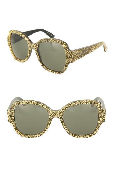 Image of Saint Laurent 53mm Glitter Sunglasses