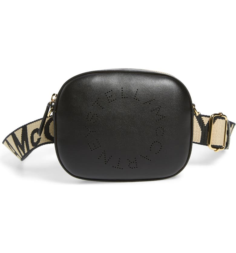 STELLA MCCARTNEY Alter Faux Leather Belt Bag, Main, color, BLACK
