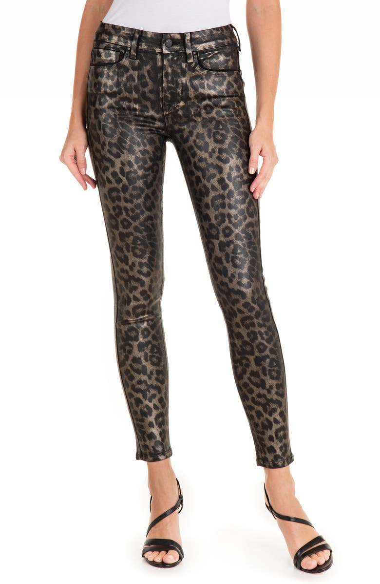 FIDELITY DENIM Sola High Waist Crop Skinny Jeans, Main, color, LEOPARD PRINT