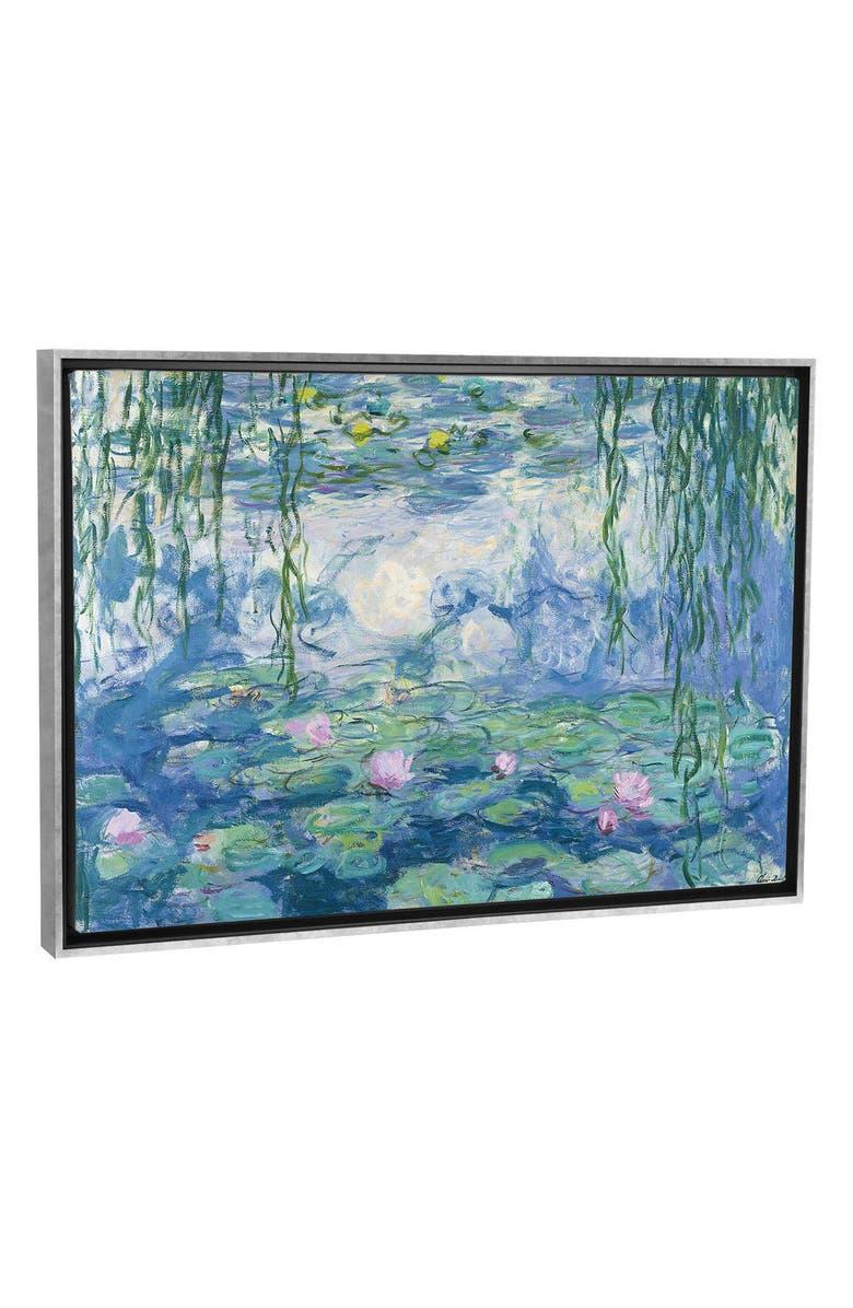 ICANVAS Waterlilies, 1916-1919 by Claude Monet Giclée Print Canvas Art, Main, color, BLUE